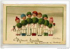 Pauli Ebner (Austrian 1873-1949) -Vintage Christmas Postcard