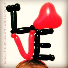 LOVE/Heart Hairband for Valentines Day by Dale the Balloon Twister