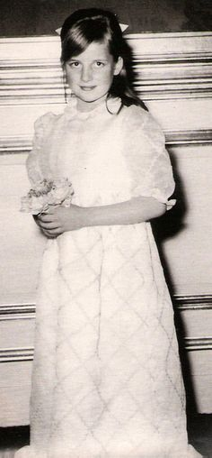 Lady Diana France as a young girl
