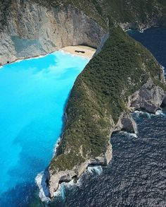 Navagio beach from a different perspective, Zakynthos Island, Greece