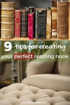 9 tips for creating your perfect reading nook Diy Decoration, Diy Home Decor, Simple Diy, Easy Diy, Project Ideas, Projects, Cozy Place, Reading Nooks, Your Perfect