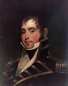 """Painting: """"Captain James Lawrence, USN (1781-1813)"""" by J. Herring. Credit: Naval History & Heritage Command, United States Navy; Wikimedia Commons. Read more on the GenealogyBank blog: """"Dying Captain's Last Words: 'Don't Give Up the Ship!'"""" https://blog.genealogybank.com/dying-captains-last-words-dont-give-up-the-ship.html"""