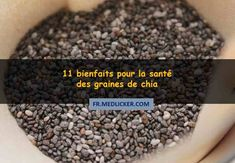 11 bienfaits pour la santé des graines de chia