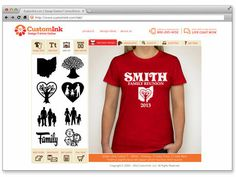 Use this website to Design Your Personalized T-Shirts Online: Custom Ink dot com! With many styles and colors plus fonts and clipart to match any event, cause, team, business, anything else that you may like a shirt for! Great for parties and family functions too.