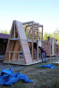The A-Frame – Tiny House Listings - architecture house A Frame Cabin, A Frame House, Tiny House Cabin, Tiny House Design, Casas Containers, Barn Parties, Tiny House Listings, Little Houses, Play Houses