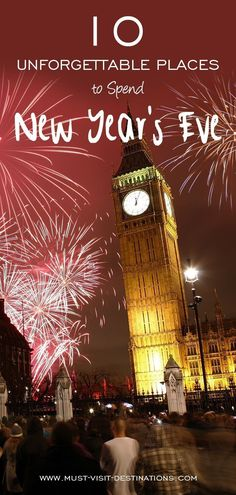 10 Unforgettable Places in the World to Spend New Year's Eve #travel
