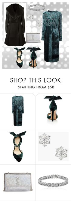 """""""Holiday Party Looks .. Pt 1"""" by styledby-l ❤ liked on Polyvore featuring Lanvin, Alexandre Birman, Talbots, Yves Saint Laurent, Apples & Figs and Elie Tahari"""