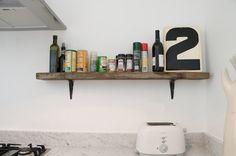 Vintage Salvage Oak Kitchen Shelf: Remodelista for master bedroom