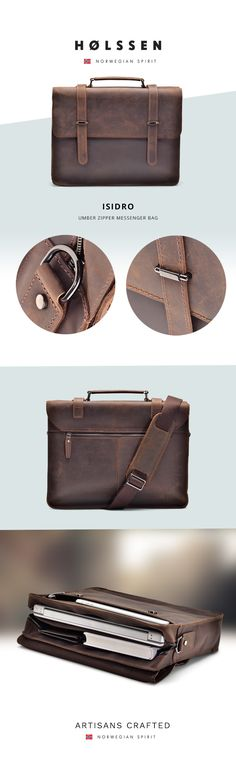 Leather messenger bag perfect for work or school to carry ipad, laptop, macbook, tablets, and any essentials.
