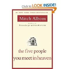 This is the second book I've read by Mitch Albom, and I want to read his others. He's an excellent author.