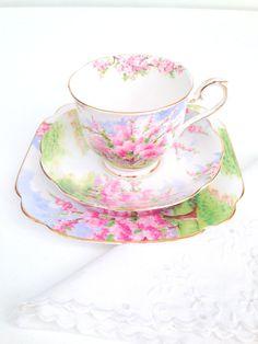 Vintage Royal Albert English Bone China Blossom by MariasFarmhouse