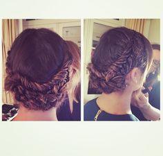 Lea Michele's crown braid..