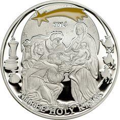 2 dollari Palau Re Magi. Silver Enamel, Silver Coins, Numismatic Coins, Custom Coins, Rare Coins Worth Money, Coin Store, Coin Worth, Gold Aesthetic, Three Wise Men