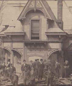 """PARKERSBURG FLOOD"" - March 15, 1907- Parkersburg, West Virginia"