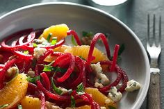 Beet, Orange and Walnut Salad