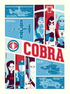 Cobra poster /// by artists Dave Perillo and Tom Whalen