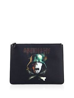 Givenchy Leather Top Zip Wallet - Color