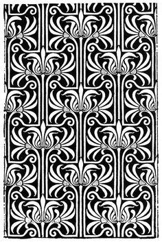 art noveau pattern by kits.cardinal, via Flickr