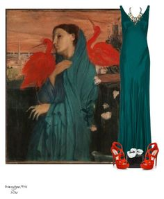 """""""French Masters Series 1/5- Degas- Bird Lady"""" by babygurl7191 ❤ liked on Polyvore featuring Ghost, Nancy Gonzalez and Prada"""