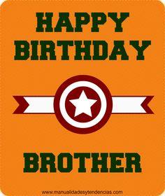 Tarjeta de cumpleaños para hermano gratis www.manualidadesytendencias.com #tarjetacumpleaños #birthdaycard #card