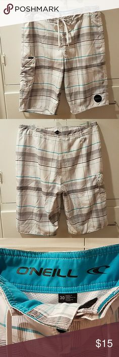 "Men's O'Neill Board Shorts 30"" waist, fully mesh-lined, 2 velcro closures and tie, 1 pocket. Inseam 10"" GUC O'Neill Shorts"