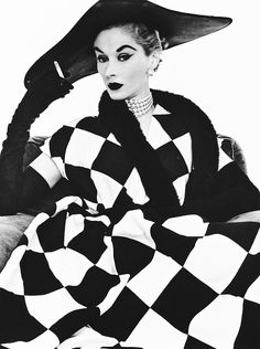 Harlequin Dress photographed by Irving Penn for Harpers Bazaar, 1950.