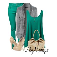 Green look from ILoveCuteShoes.com