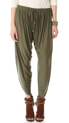 Haute Hippie Draped Jersey Harem Pants | SHOPBOP  Exactly what I've been looking for... Minus those awful shoes.