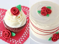 Glorious Treats: How to make Fondant Roses and Leaves - fondant rose Fondant Rose, Fondant Flower Cake, Fondant Cupcakes, Cupcake Cakes, Velvet Cupcakes, Car Cakes, Fondant Baby, Velvet Cake, Fondant Icing
