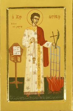 San Lorenzo Byzantine Art, Soul Art, Orthodox Icons, Religious Architecture, Catholic Art, Saints, Byzantine Icons, Fresco