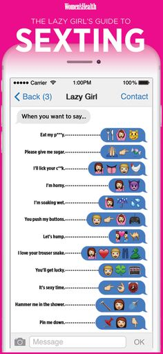 The Lazy Girl's Guide To Sexting http://www.womenshealthmag.com/sex-and-relationships/lazy-girl-guide-to-sexting