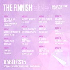 The Finnish(able) Nail Art Challenge Spring 2015 is starting! Hope you'll join us!