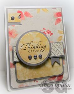 Happy Thursday Everyone!! It's time for a NEW sketch over at the  The Deconstructed Sketch!! This weeks card features a sentiment from the Sincere Sentiment set from Stampin' Up along with some pape