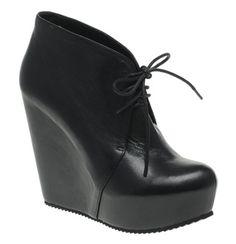 "ALDO ""Sandidge"" Platform Wedge Shoe Boots in black (Acne Atacoma knockoffs)"