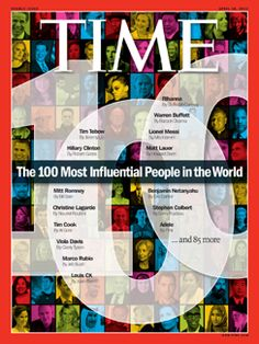 Time magazine has revealed the Time 100 for the magazine's ninth annual list of the 100 most influential people in the world, which includes many of Hollywood's most powerful women. Tim Cook, Christian Marclay, Louis Ck, Magazine Cover Design, Magazine Covers, Chelsea Handler, Benjamin Netanyahu, Time 100, Tim Tebow