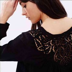 Free people black xs blouse New without tags Free People Tops Blouses