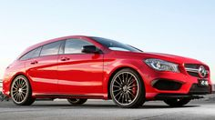 A more compact new CLA 45 AMG Shooting Brake is a bit of a chip chopped from entertaining block that is the CLS 500.