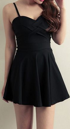 Little black dress. So cute :)