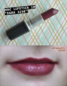 "MAC Lipstick in ""Dark Side"": Review and Swatch"