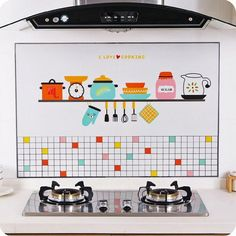 Self-adhesive high temperature anti-oil stickers home stove tile wallpaper kitchen waterproof wall stickers greaseproof paper . Full Description and Find more idea click picture .