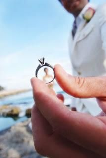 Through the wedding ring