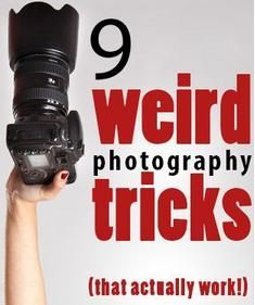 9 Weird photography tricks that actually work. Some great ideas here
