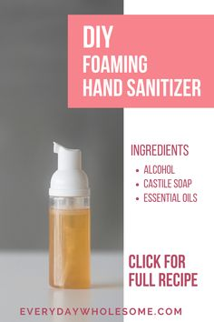 This is my favorite all time foaming hand sanitizer recipe. This is the foaming version of my hand sanitizer recipe and I have an aloe vera gel recipe and a spray recipe. It has alcohol and also Castile Soap and essential oils. Hand Sanitizer Ingredients, Essential Oil Blends, Essential Oils, Castile Soap Recipes, Best Hand Sanitizer, Diy Cleaning Products, Homemade Products, Diy Products, How To Make Homemade