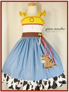 Jessie Toy Story Character Dress by greenmeadowdesigns on Etsy, $165.00