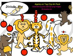 This Apples on Top Clipart collection includes all the images shown in the sample picture and more. This clipart pack is a parody of the book Ten Apple Up on Top. This group includes 24 different clips:* Black line masters of all clips* Dog* Tiger* Lion* Bear(s)* Cart* So CuteGraphics come in PNG format 300 dpi format.My graphics are suitable for printing and digital projects and can be easily re-sized smaller to suit other needs, graphics measure different sizes and can be resized.Original…