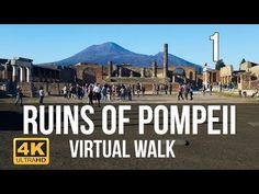 Pompeii Virtual Walk in Part 1 Virtual Museum Tours, Virtual Tour, Pompeii Ruins, Virtual Field Trips, Virtual Travel, Italy Tours, Walking Tour, Places To See, Tourism