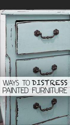 Ways to Distress Painted Furniture #refurbishedfurniture