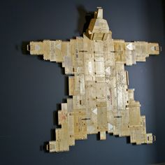 A Bear Made Of Wooden Box Lids