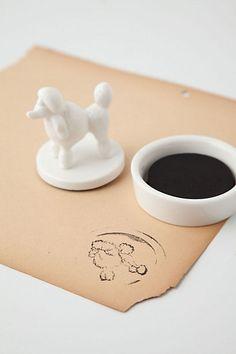 poodle stamp -anthropologie