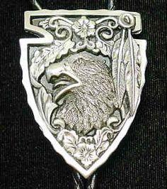 Large Bolo - Arrowhead with Eagle (Diamond Cut)